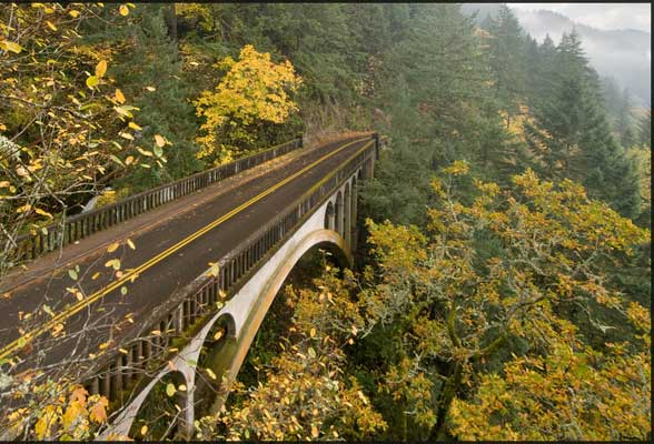 Sheppard's Dell Bridge, Columbia Gorge Historic Highway, Oregon